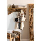 Cabide de madeira Raffa com prateleira de parede, imagem miniatura 1