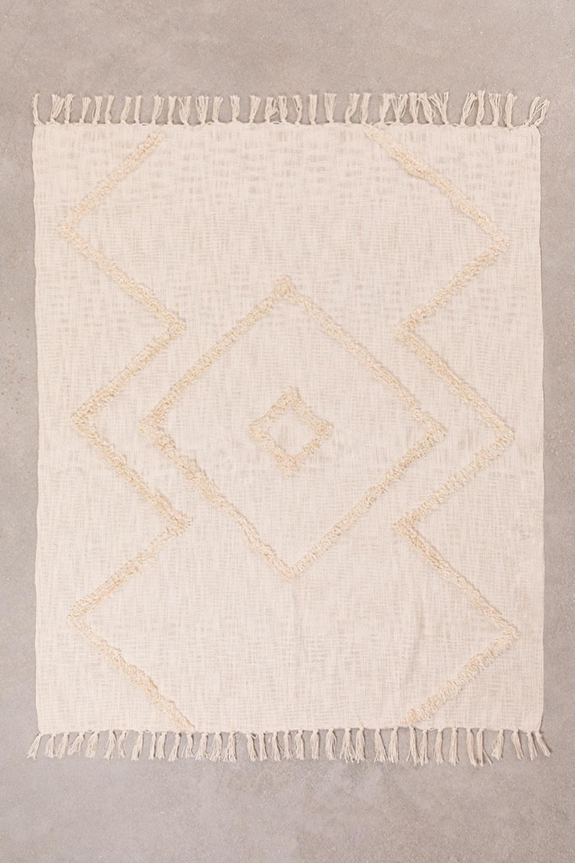 Manta Xadrez em Algodão Neutro, imagem de galeria 1