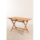 Mesa dobrável para jardim em madeira teca (120x70 cm) Pira, imagem miniatura 4