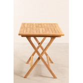 Mesa dobrável para jardim em madeira teca (120x70 cm) Pira, imagem miniatura 5