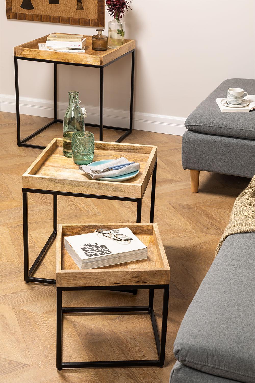 Conjunto de 3 mesas laterais Tauber, imagem de galeria 1