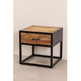 Mesa de cabeceira de madeira Bavi, imagem miniatura 2