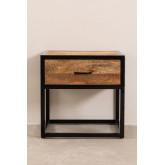 Mesa de cabeceira de madeira Bavi, imagem miniatura 3