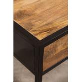 Mesa de cabeceira de madeira Bavi, imagem miniatura 4