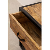 Mesa de cabeceira de madeira Bavi, imagem miniatura 5