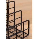 Porta-revistas de metal com compartimentos Bok, imagem miniatura 5