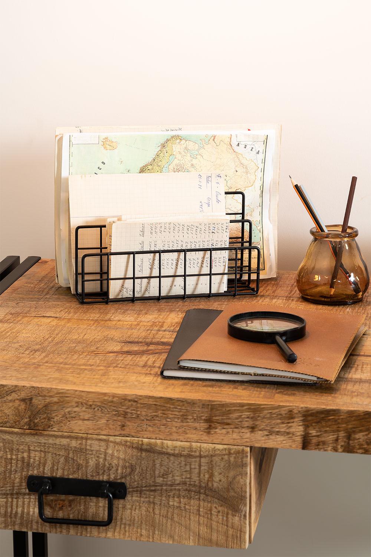 Porta-revistas de metal com compartimentos Bok, imagem de galeria 1