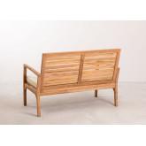 Sofá de jardim de 2 lugares em madeira de teca Adira , imagem miniatura 4