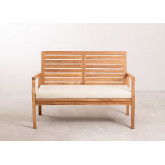 Sofá de jardim de 2 lugares em madeira de teca Adira , imagem miniatura 5