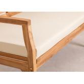 Sofá de jardim de 2 lugares em madeira de teca Adira , imagem miniatura 6