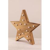 Estrela de madeira com luzes led Lliva, imagem miniatura 2
