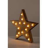 Estrela de madeira com luzes led Lliva, imagem miniatura 3