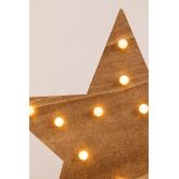 Estrela de madeira com luzes led Lliva, imagem miniatura 4