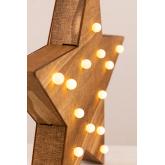 Estrela de madeira com luzes led Lliva, imagem miniatura 5
