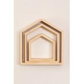 Conjunto de 3 estantes de parede de madeira de pinho Menlo Kids, imagem miniatura 4