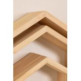 Conjunto de 3 estantes de parede de madeira de pinho Menlo Kids, imagem miniatura 5