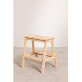 Tamborete de madeira de pinho Wems, imagem miniatura 4