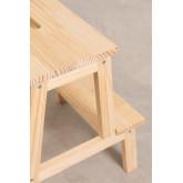 Tamborete de madeira de pinho Wems, imagem miniatura 5