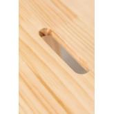 Tamborete de madeira de pinho Wems, imagem miniatura 6