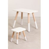 Conjunto de mesa e banquinho de madeira para crianças Grechen, imagem miniatura 2