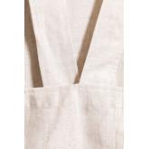 Avental de linho e algodão violeta infantil, imagem miniatura 4