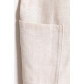 Avental de linho e algodão violeta infantil, imagem miniatura 5