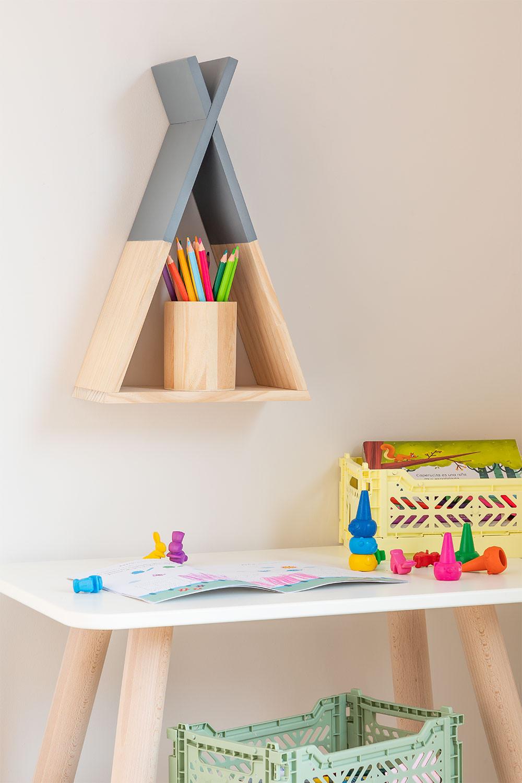 Prateleira de parede de madeira Sius Kids, imagem de galeria 1