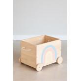 Carrinho de armazenamento de madeira para crianças Tedis, imagem miniatura 2