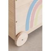 Carrinho de armazenamento de madeira para crianças Tedis, imagem miniatura 6