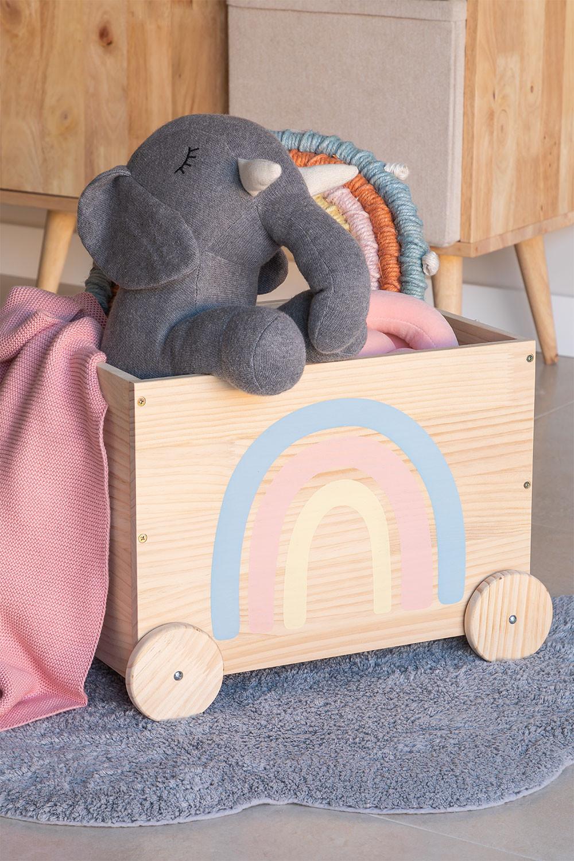 Carrinho de armazenamento de madeira para crianças Tedis, imagem de galeria 1