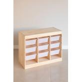 Módulo de armazenamento de madeira para crianças Nopik, imagem miniatura 2