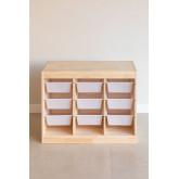 Módulo de armazenamento de madeira para crianças Nopik, imagem miniatura 3