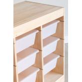 Módulo de armazenamento de madeira para crianças Nopik, imagem miniatura 4