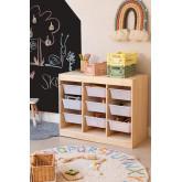 Módulo de armazenamento de madeira para crianças Nopik, imagem miniatura 1