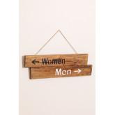 Placa de madeira reciclada Gend, imagem miniatura 3
