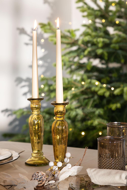 Suporte de vela de vidro reciclado Eslym, imagem de galeria 1