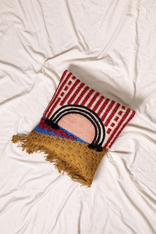 Capa de almofada de algodão e juta albba, imagem de galeria 1