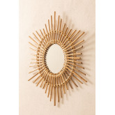 Espelho de parede redondo de bambu (66x66 cm) Etual, imagem miniatura 3