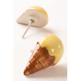Conjunto de 2 alças de cerâmica para sorvete infantil, imagem miniatura 1