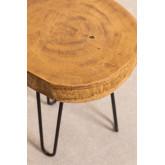 Mesa lateral de madeira natural Kolej, imagem miniatura 3