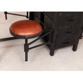 Mesa de jantar de madeira e metal de manga com 4 bancos Quadrap, imagem miniatura 5