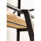 Estante de madeira reciclada Uain com escada, imagem miniatura 6
