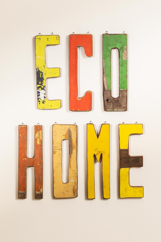 Letras Decorativas em Madeira Reciclada List, imagem de galeria 1