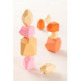 Pedras de empilhamento de crianças de madeira, imagem miniatura 1