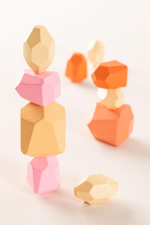 Pedras de empilhamento de crianças de madeira, imagem de galeria 1