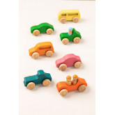 Conjunto de 7 carros de madeira Rumi Kids, imagem miniatura 1