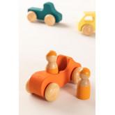 Conjunto de 7 carros de madeira Rumi Kids, imagem miniatura 2