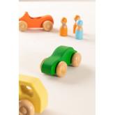 Conjunto de 7 carros de madeira Rumi Kids, imagem miniatura 3
