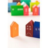 Puzzle de madeira para crianças da cidade, imagem miniatura 4