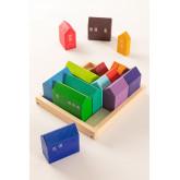 Puzzle de madeira para crianças da cidade, imagem miniatura 2